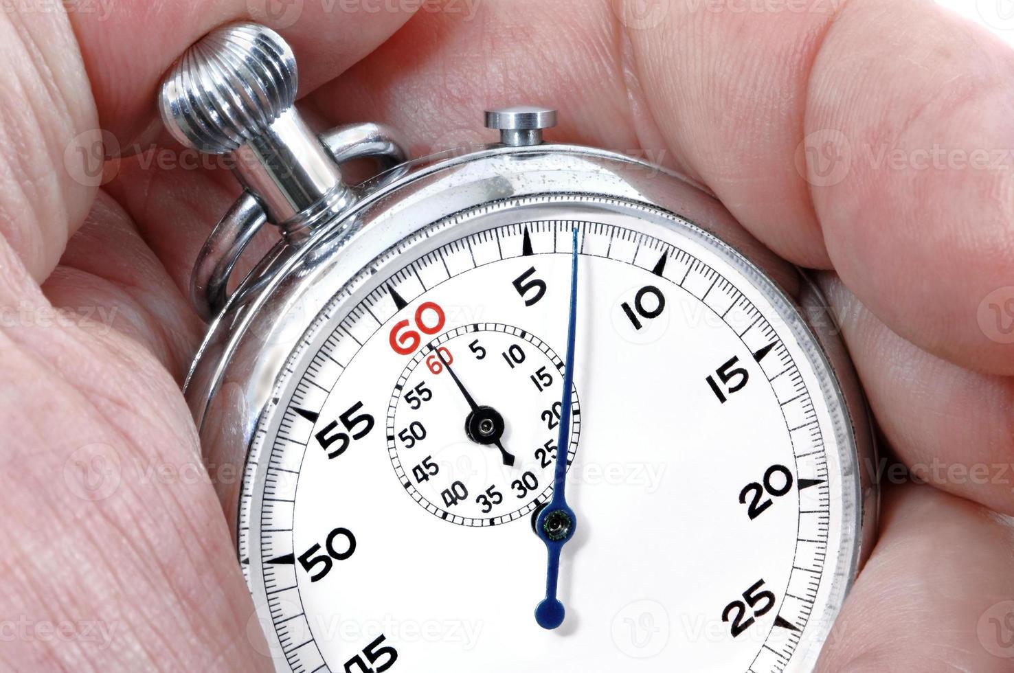 cronômetro em uma mão foto