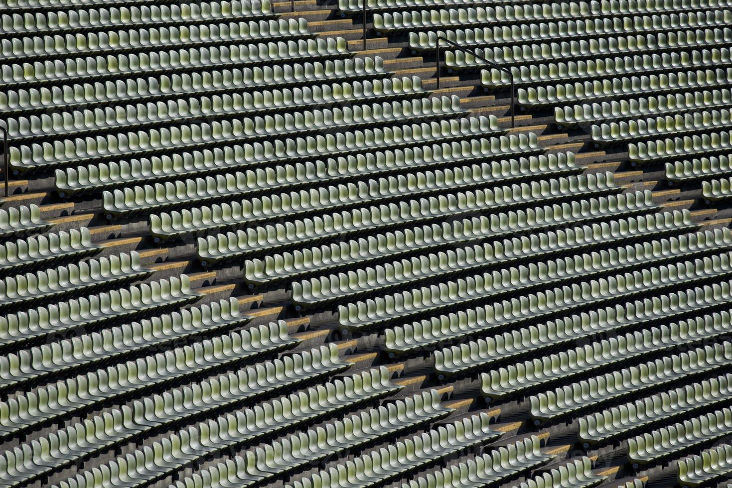 assentos de um estádio foto