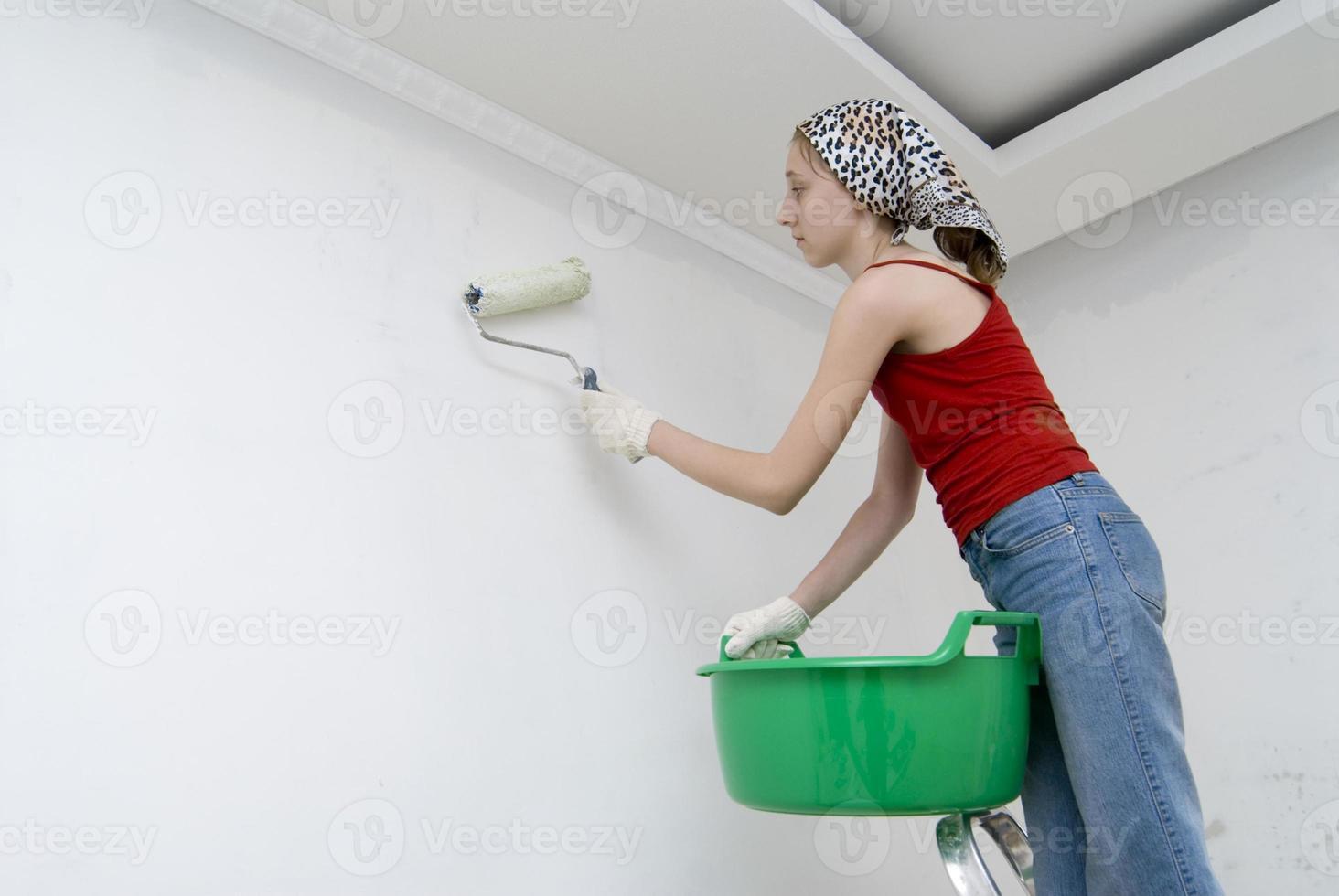 menina trabalhadora foto