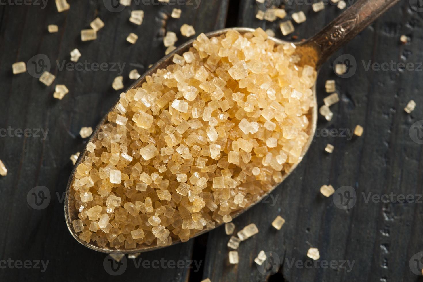 açúcar de cana orgânico cru foto