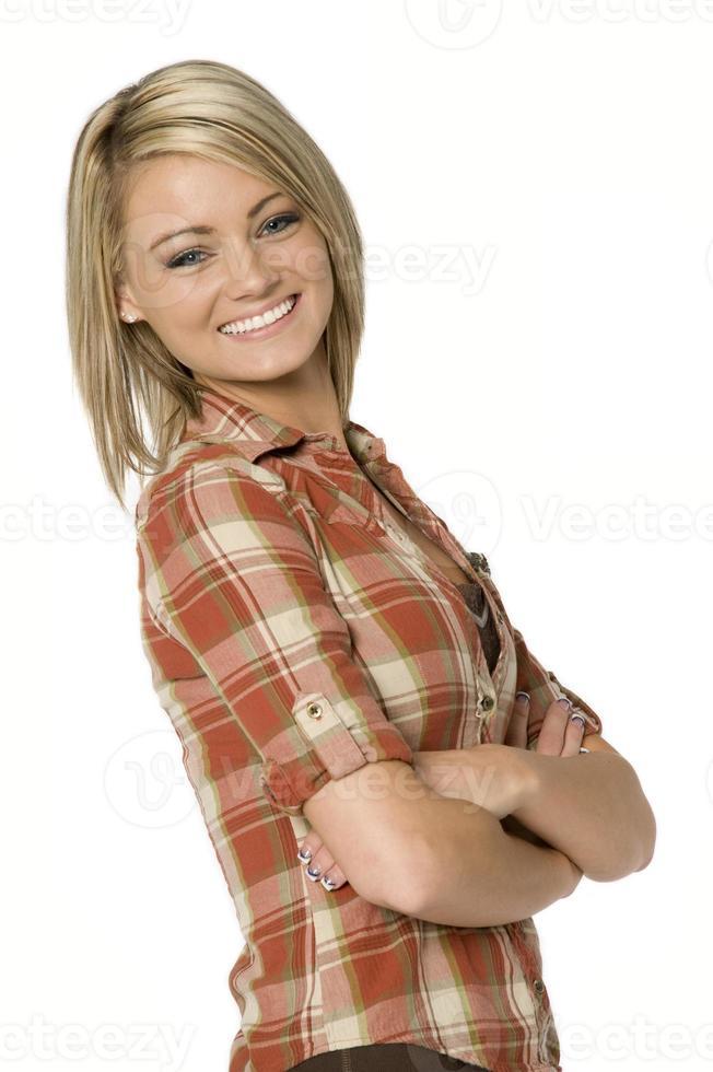 mulher alegre foto