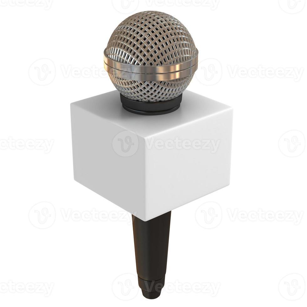 microfone com caixa de espaço de cópia foto