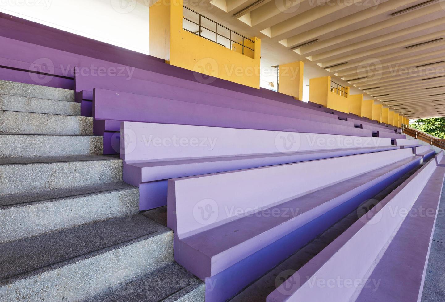 banco de audiência no estádio foto