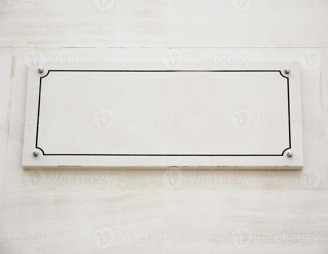 sinal de mármore em branco, cópia espaço foto