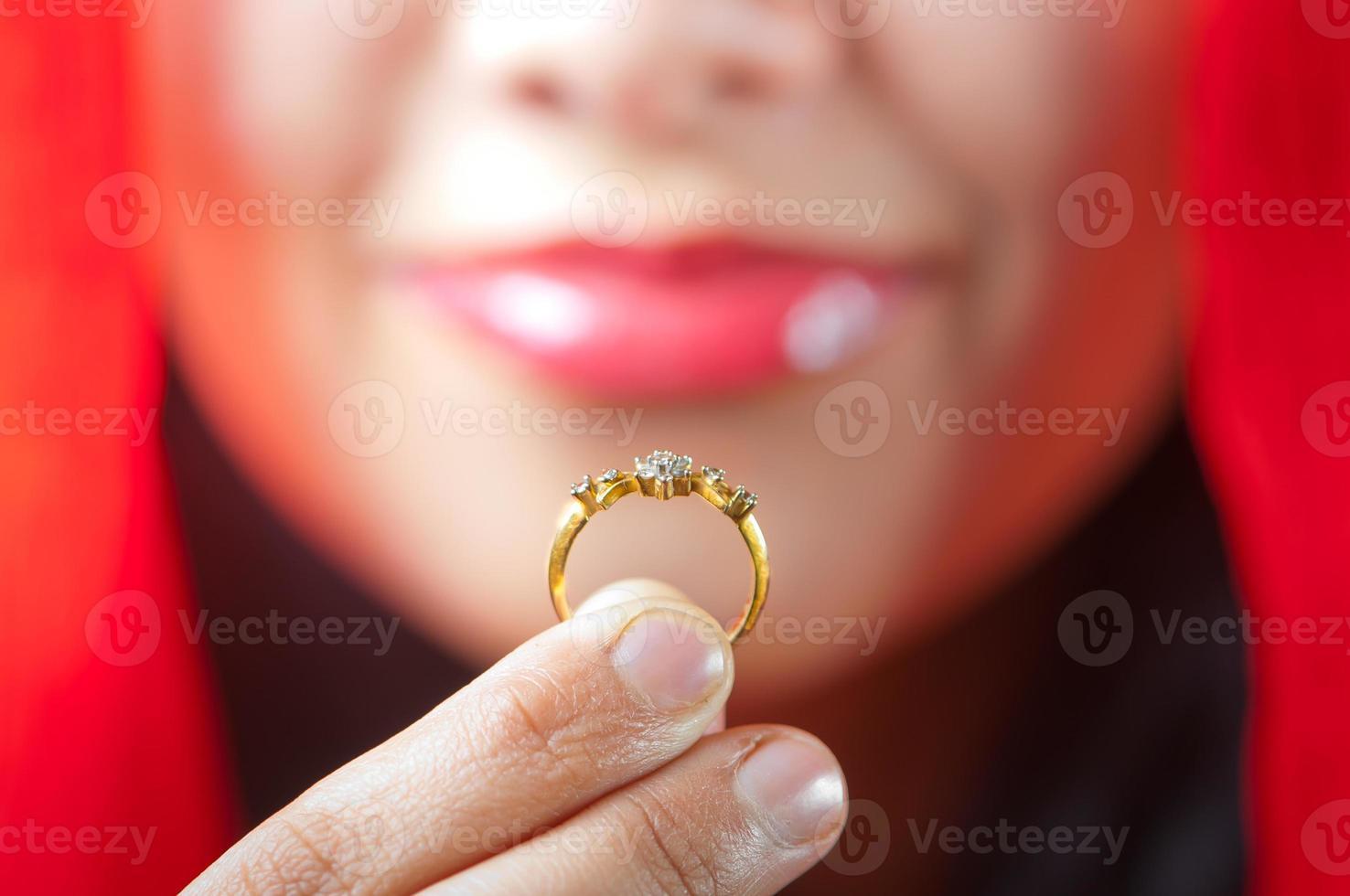 meu anel de casamento foto