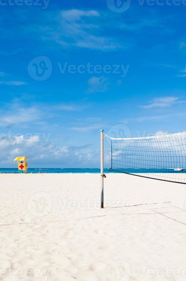 quadra de vôlei de praia foto