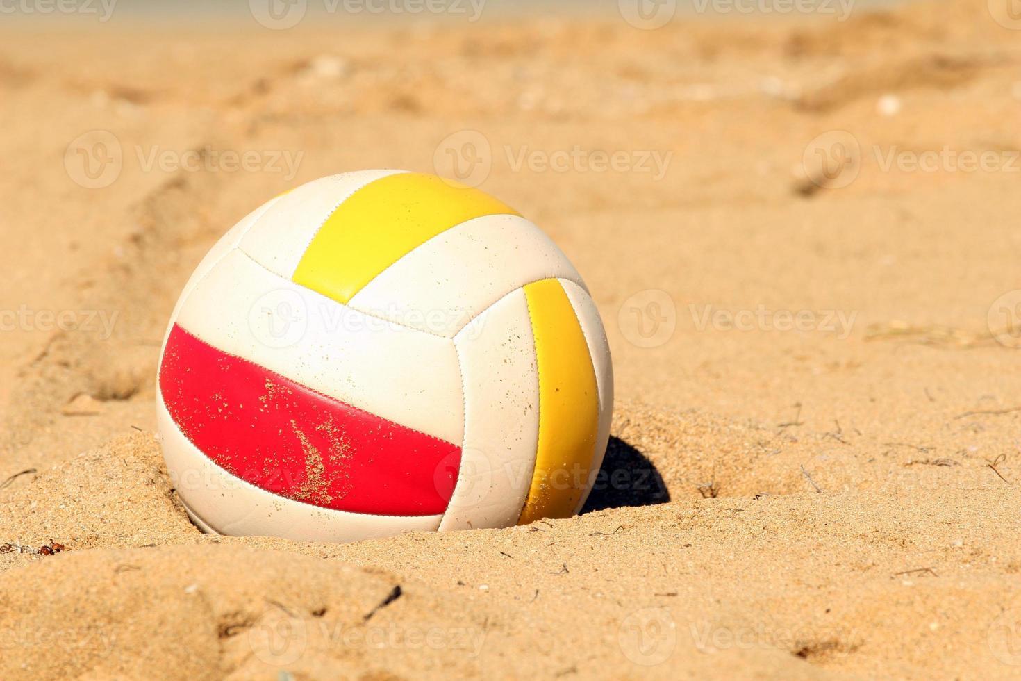 vôlei na areia foto