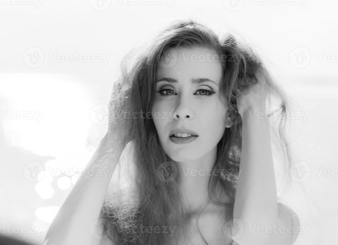 retrato de mulher jovem foto