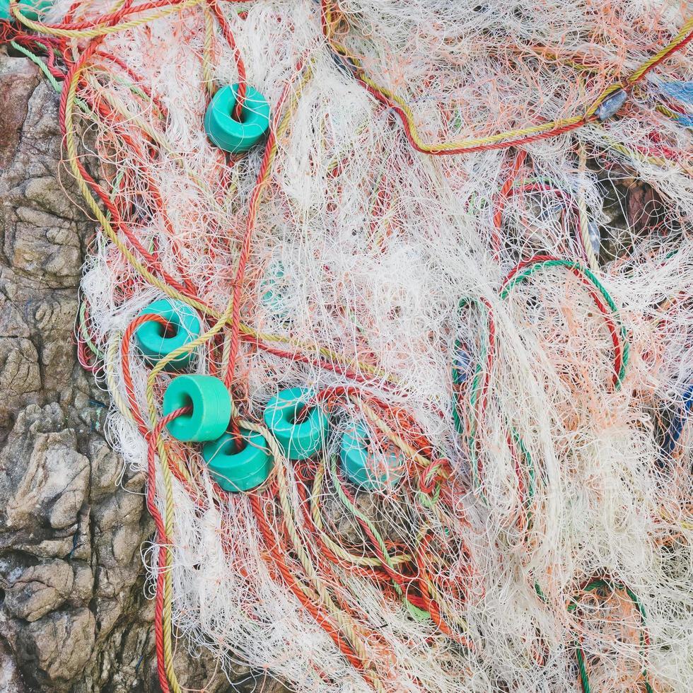 redes de pesca de perto foto
