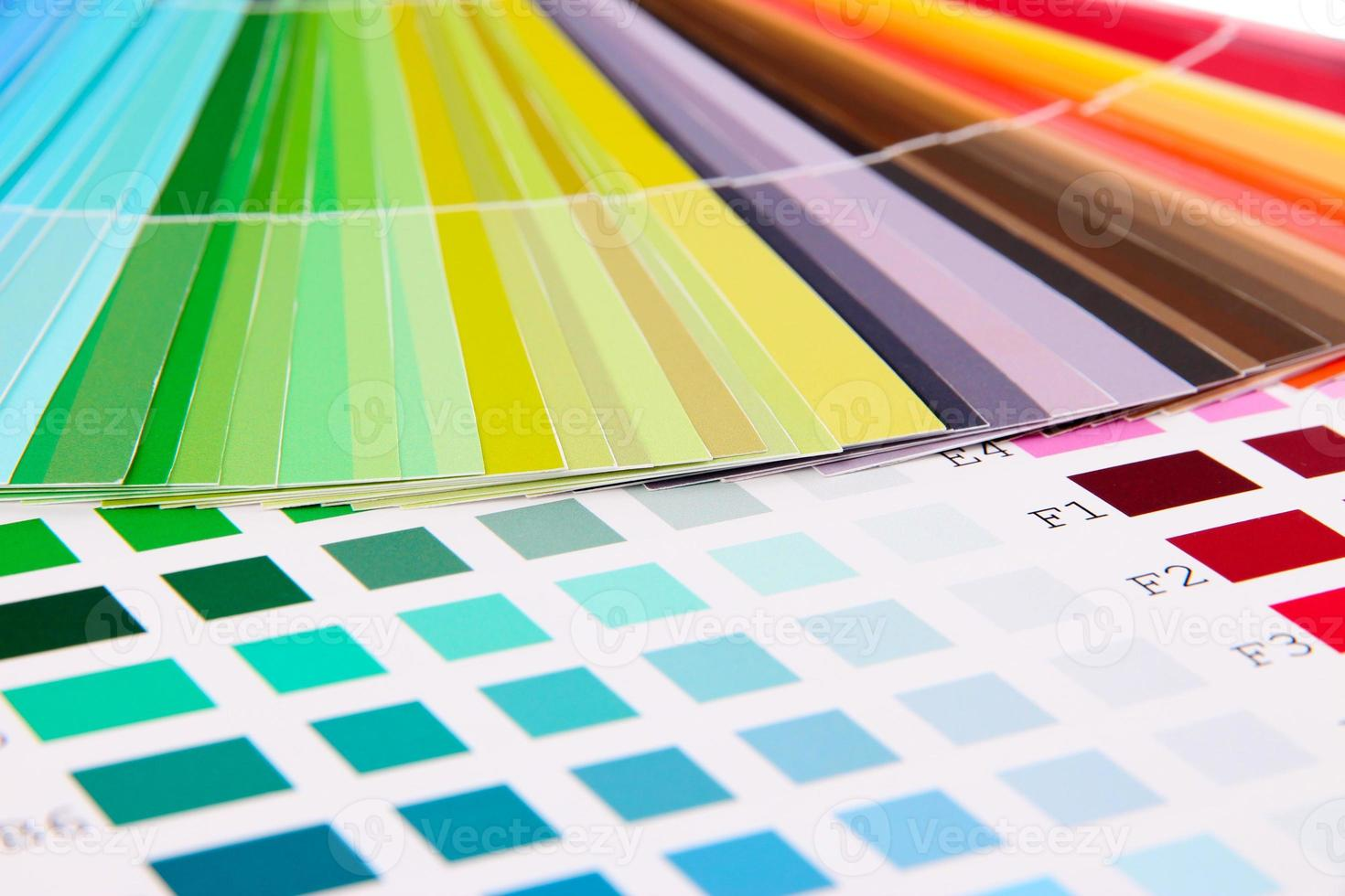 amostras de cores de perto foto