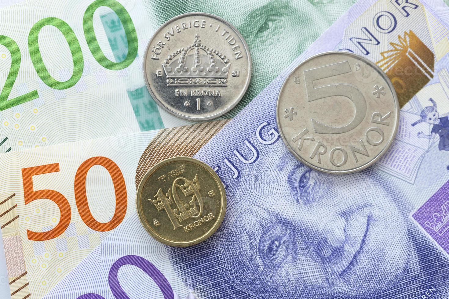 moeda sueca close-up foto