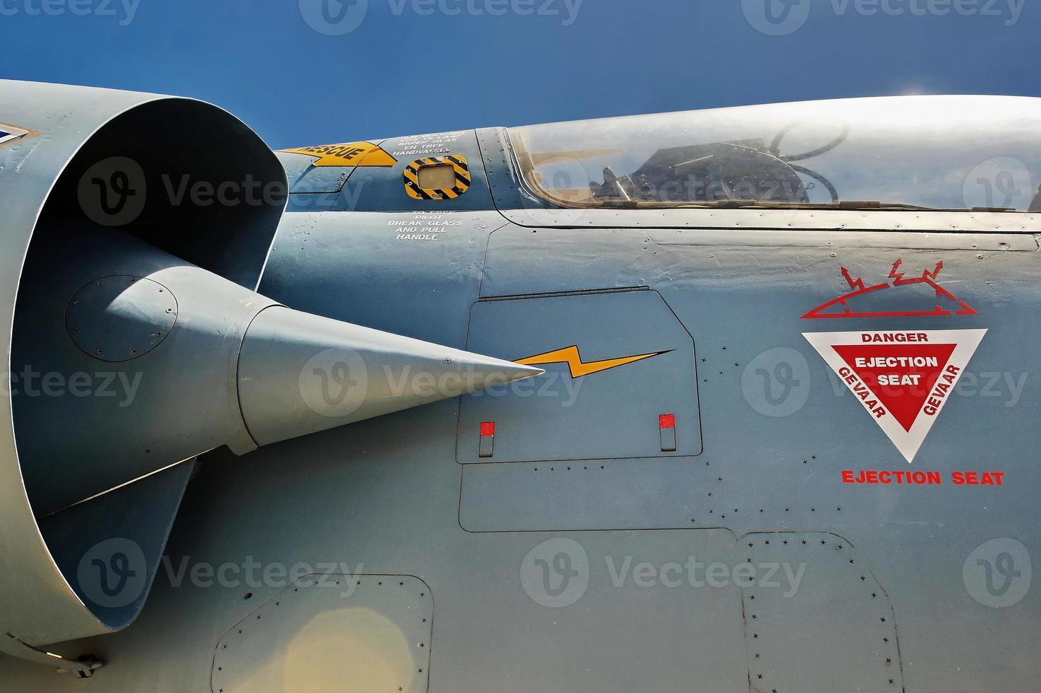 avião de caça close-up foto