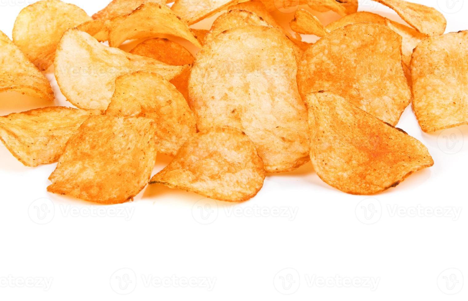 close-up de batatas fritas foto
