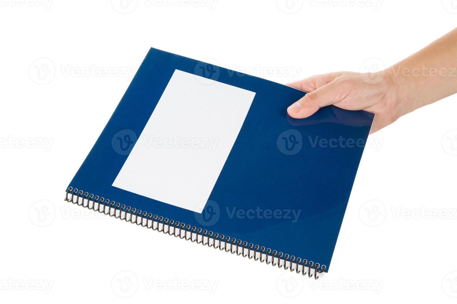 livro escolar azul foto