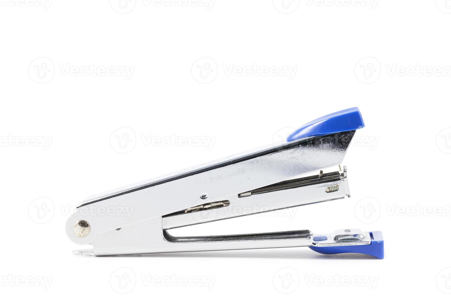 close-up grampeador azul foto