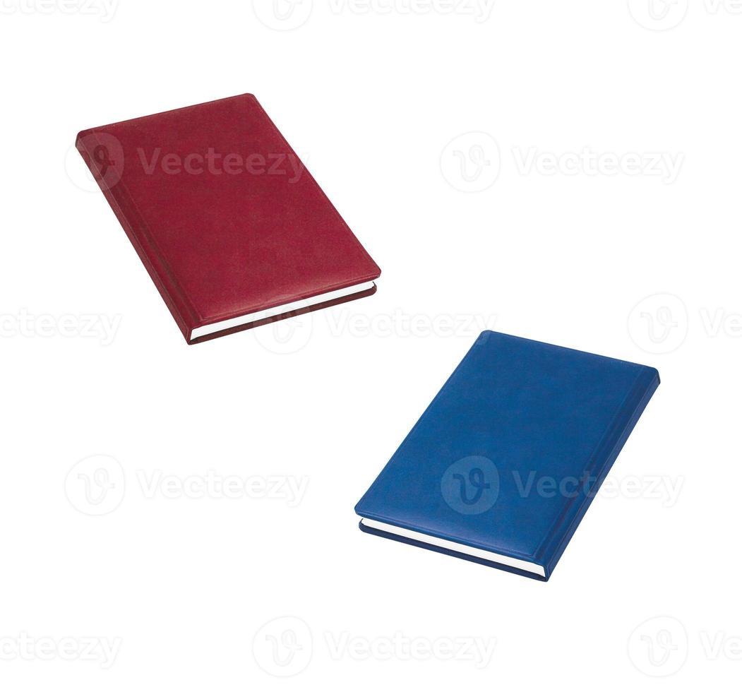 livros vermelhos e azuis foto