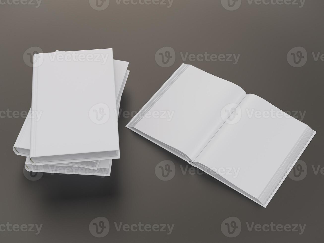 modelo de maquete de livro vazio foto