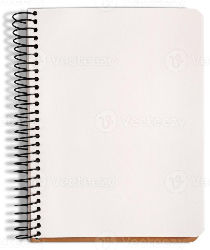 caderno de página de papel. texturizado isolado no fundo branco. coleção foto