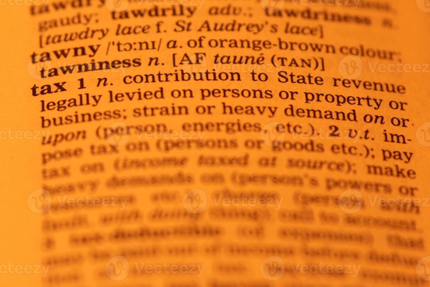 definição de imposto foto