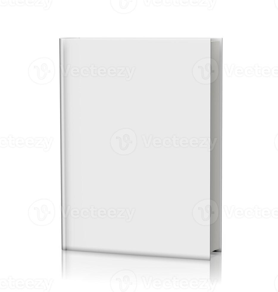capa dura em branco livro branco foto