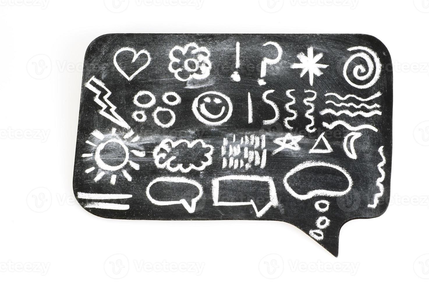 símbolos na bolha do quadro-negro foto