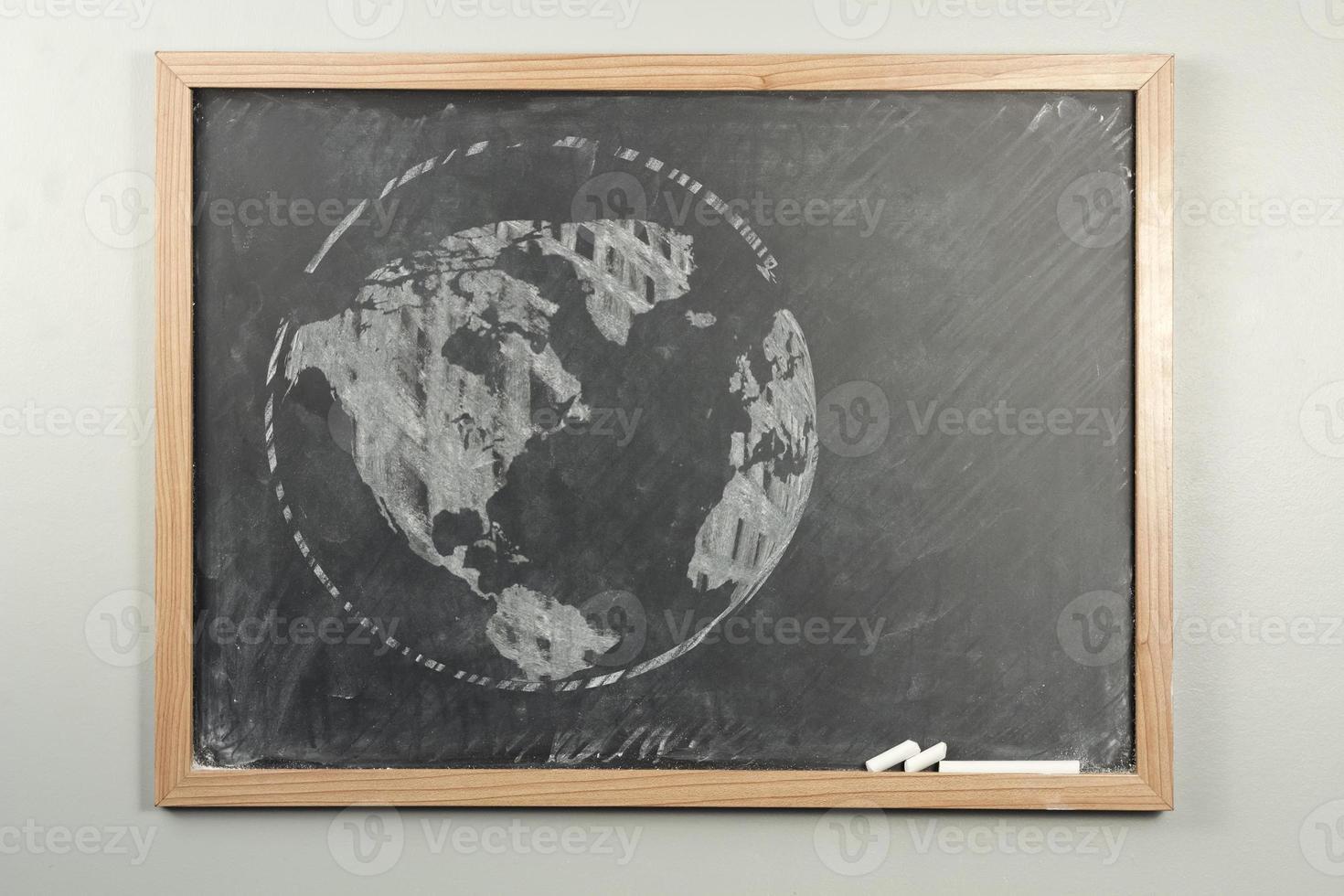 globo do mundo lousa foto