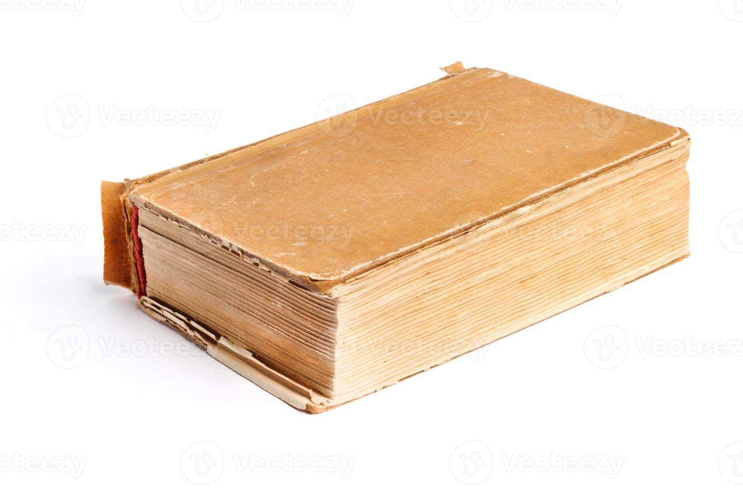 livro velho em uma capa de pano foto