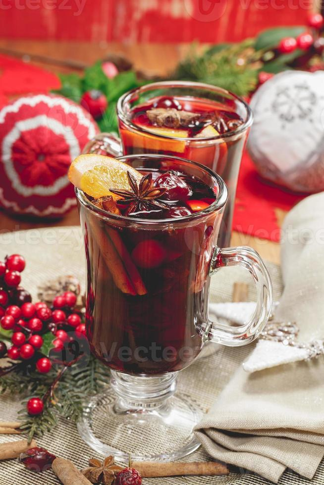 vinho quente de natal foto