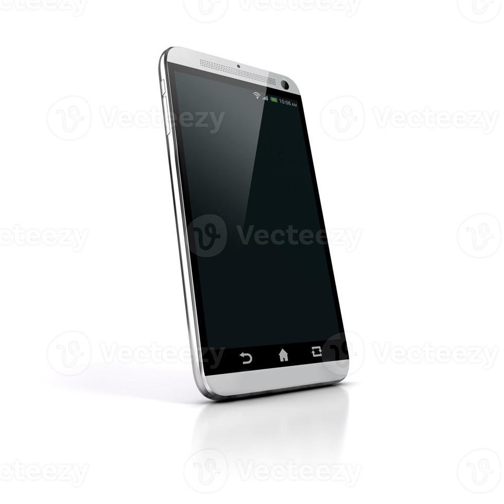 Telefone 3d esperto no fundo branco foto