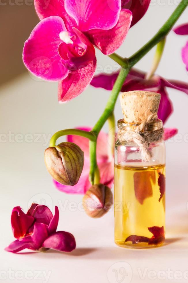 orquídea e óleo foto