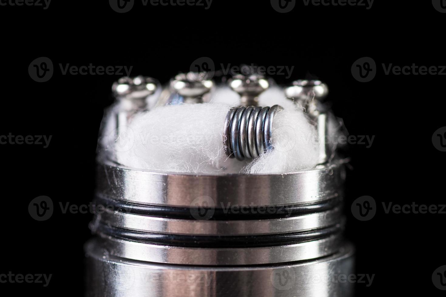 close-up de bobina vaping foto