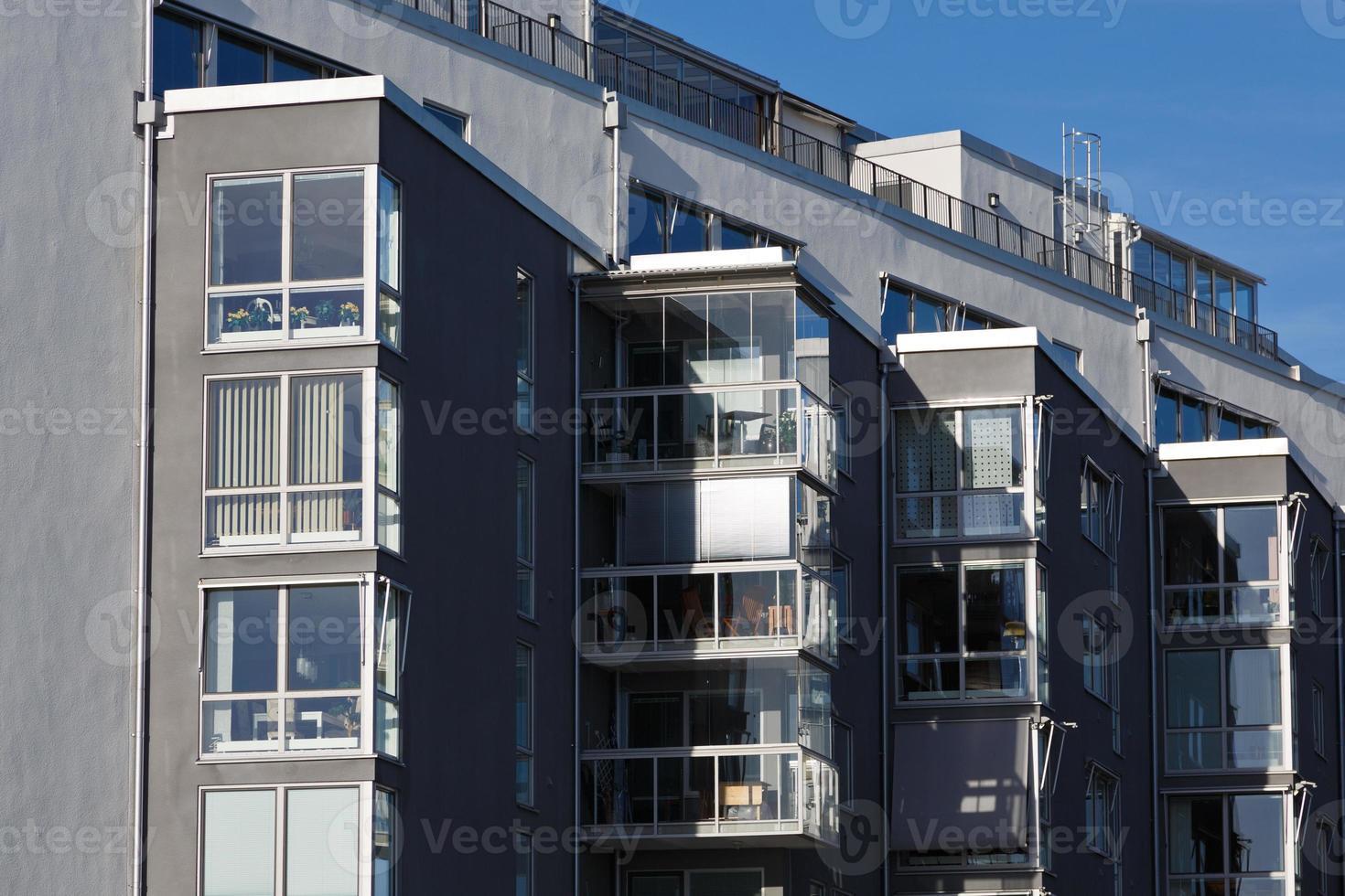 apartamento moderno na cidade vasteras, suécia. foto