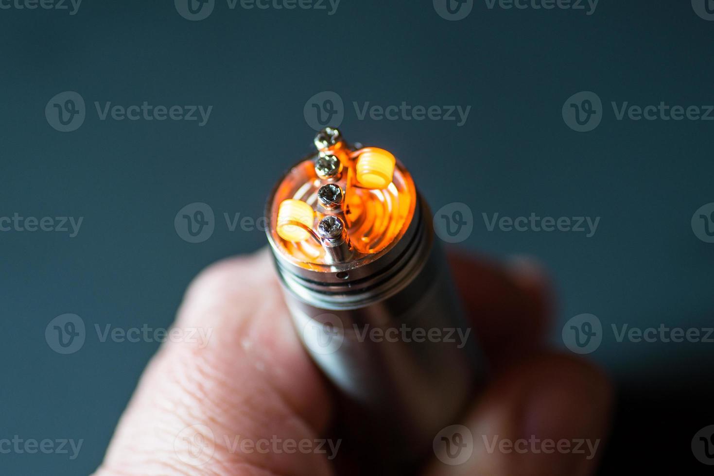bobinas ecig quentes a brilhar foto