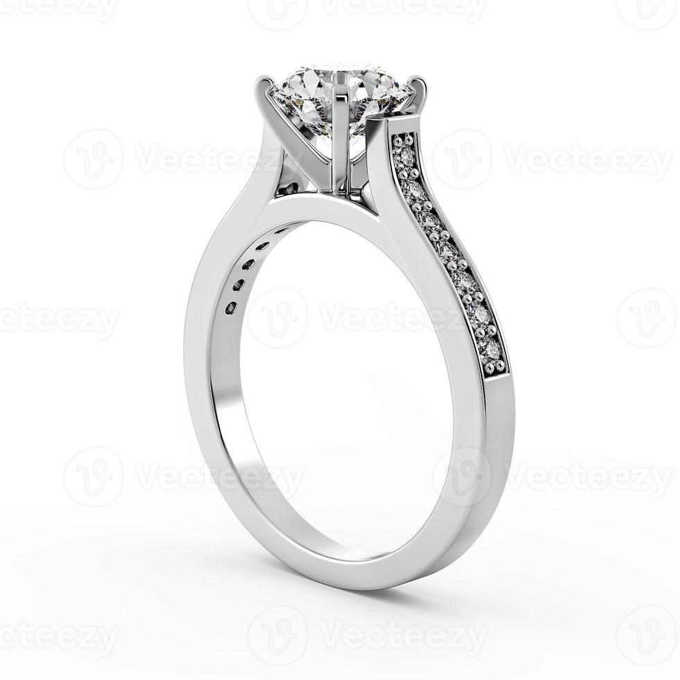 anel de diamante modelo 4 - perfil torneado foto