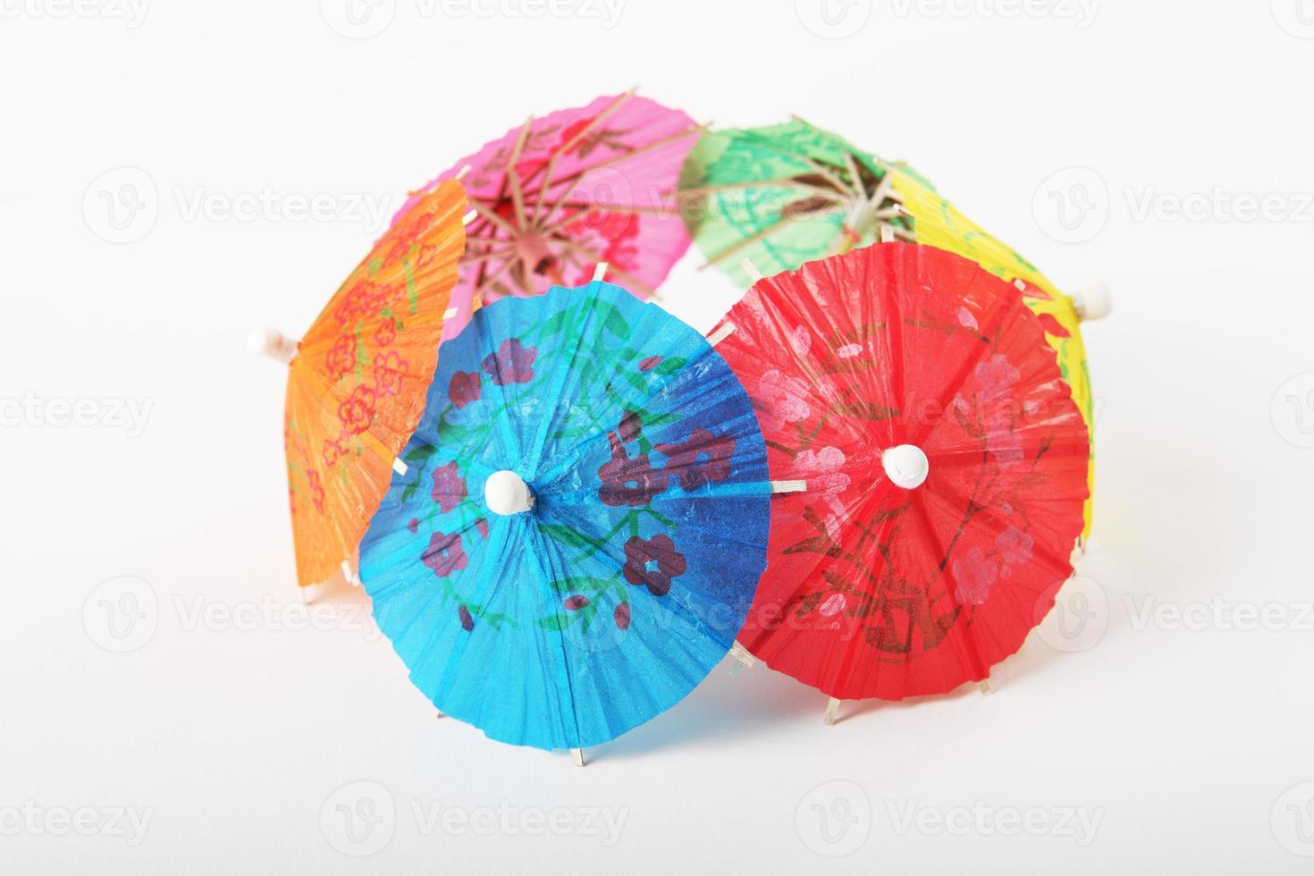 guarda-chuvas de papel cocktail foto
