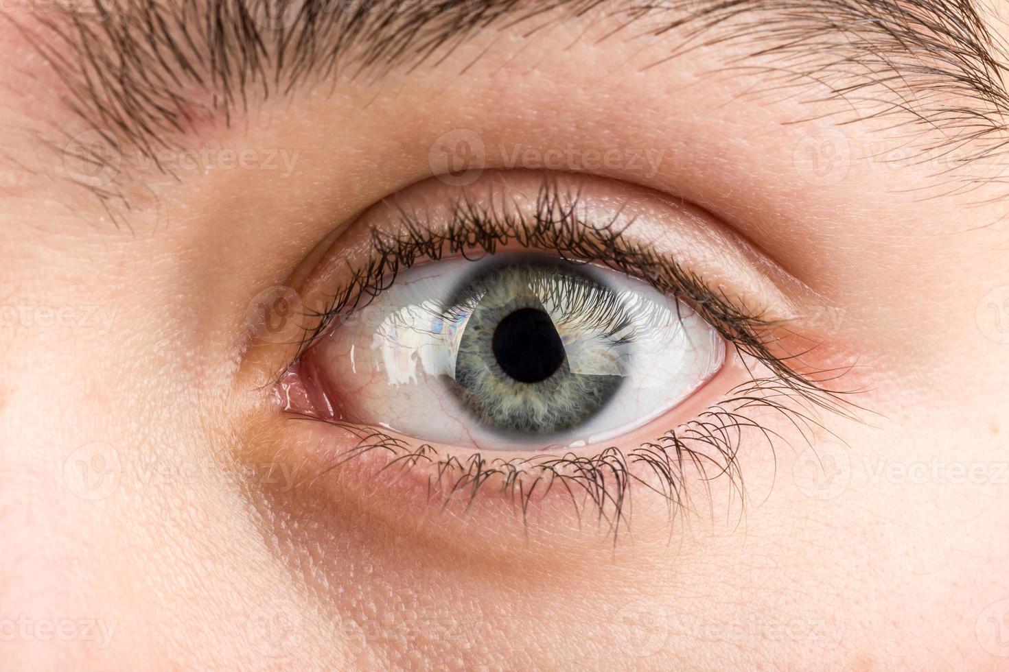 macro de olho adolescente foto