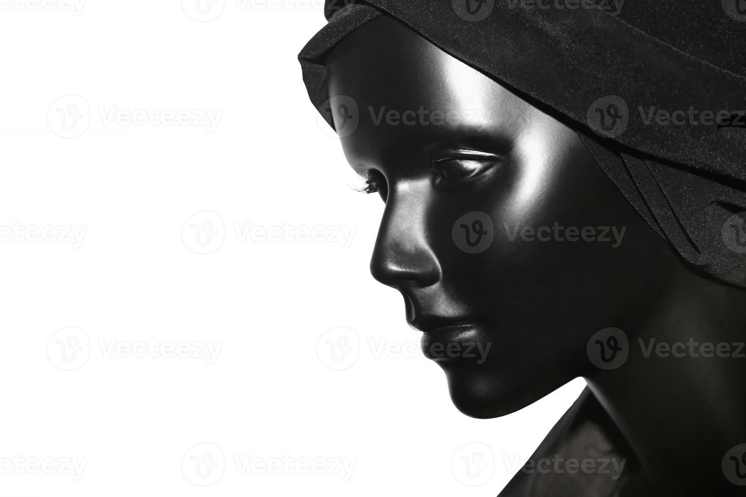 retrato de um manequim de mulher, roupas foto