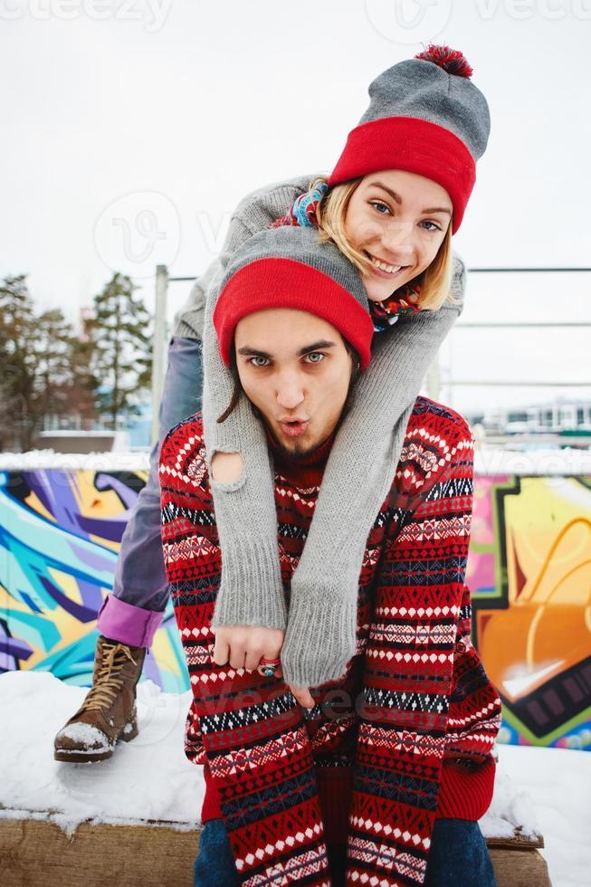 Jovem casal foto