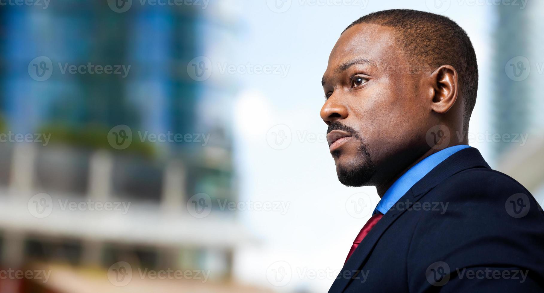 retrato preto gerente masculino foto