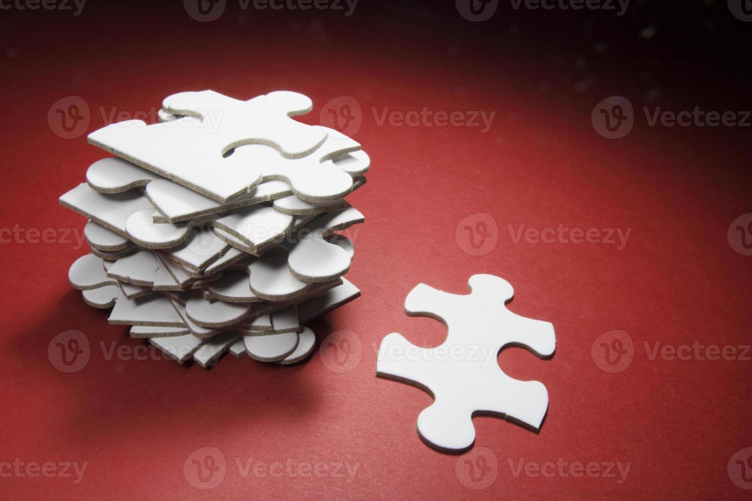 peças de quebra-cabeça foto