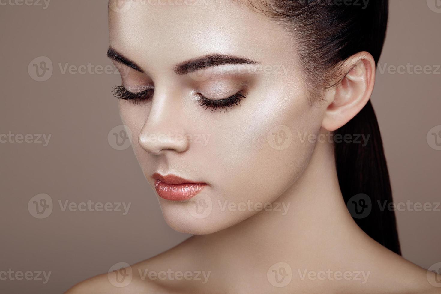 rosto de mulher bonita foto