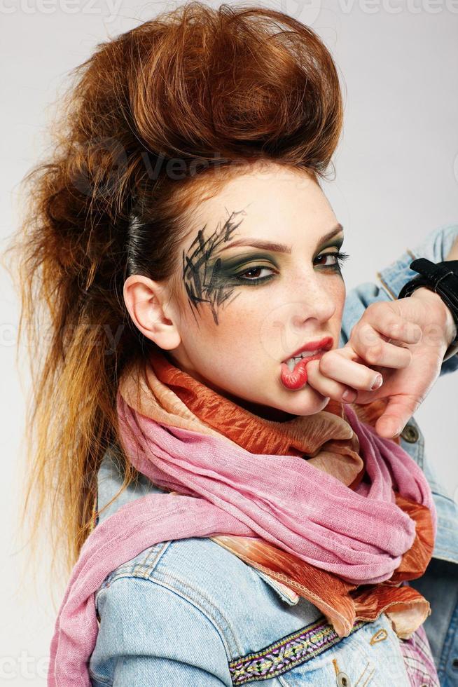 garota punk glam foto