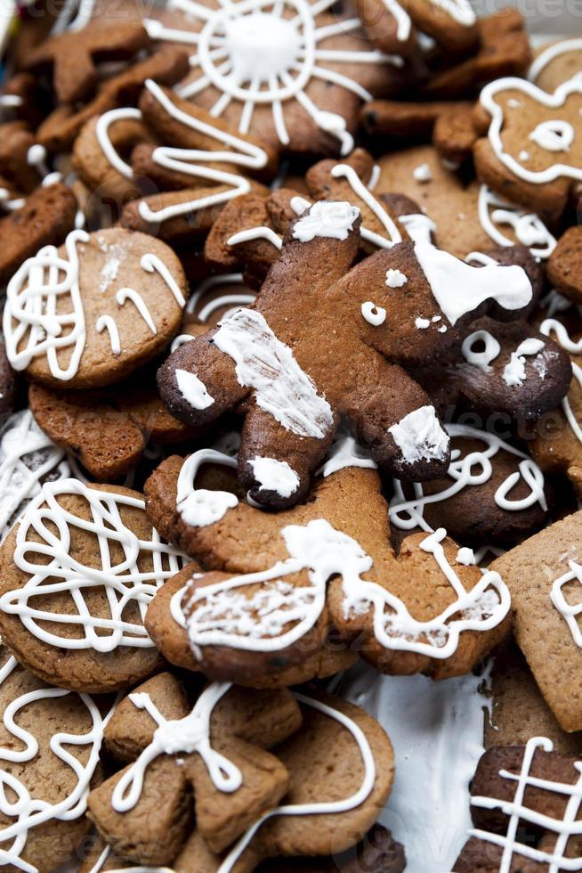 Biscoitos natalinos. feliz Ano Novo foto