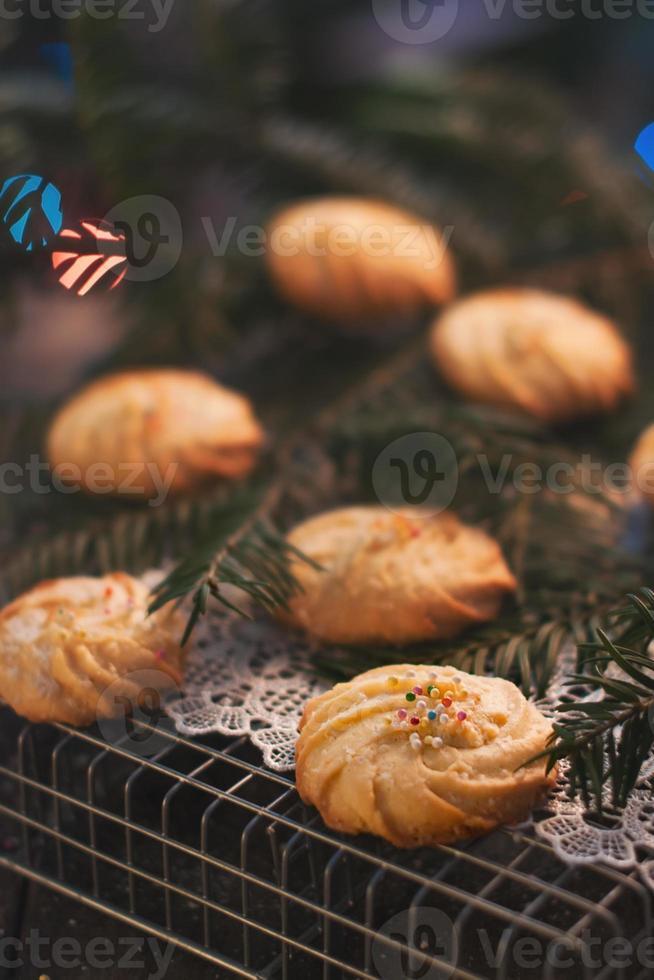 biscoitos caseiros de natal foto