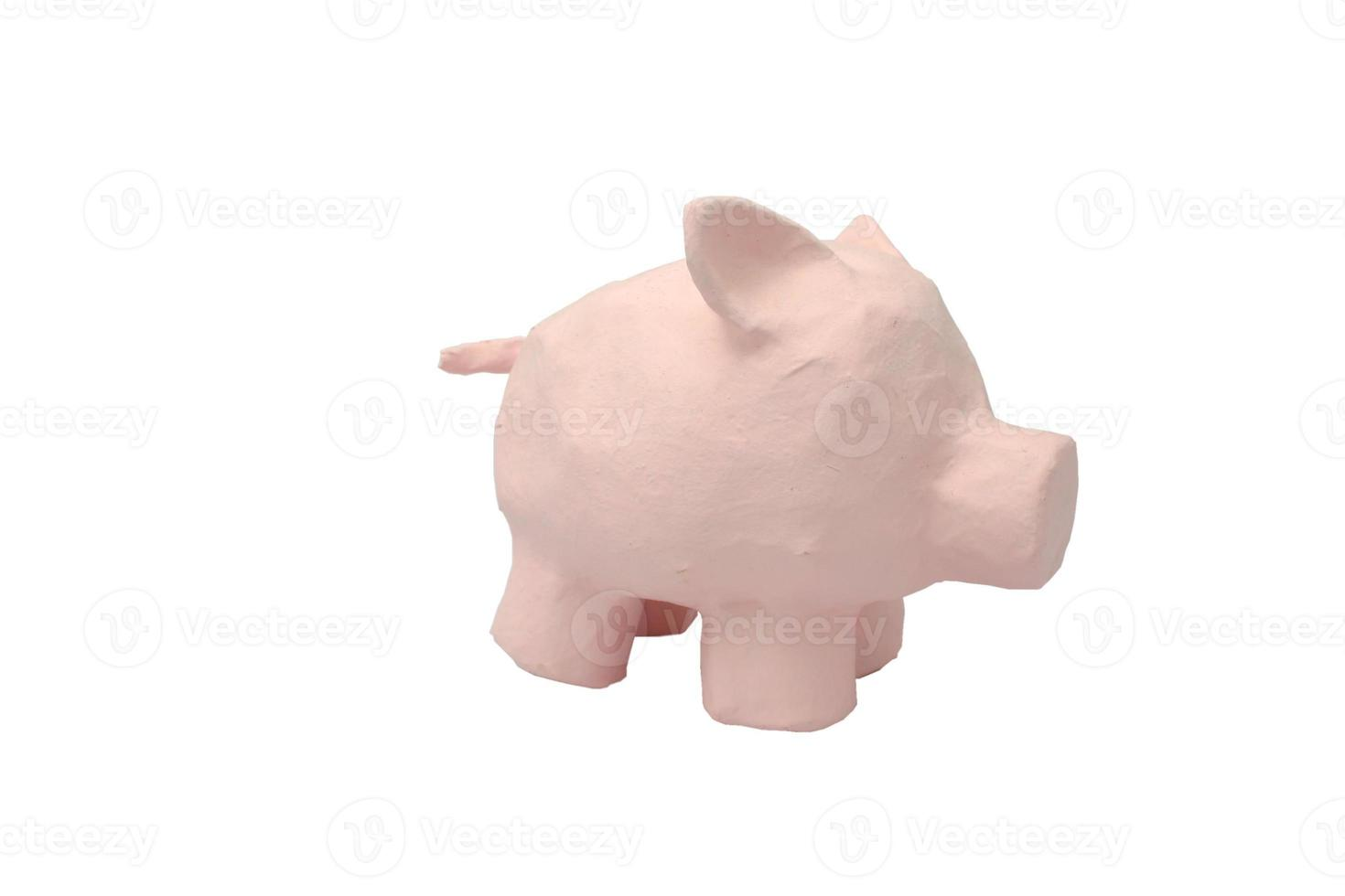 porco de papel machê foto