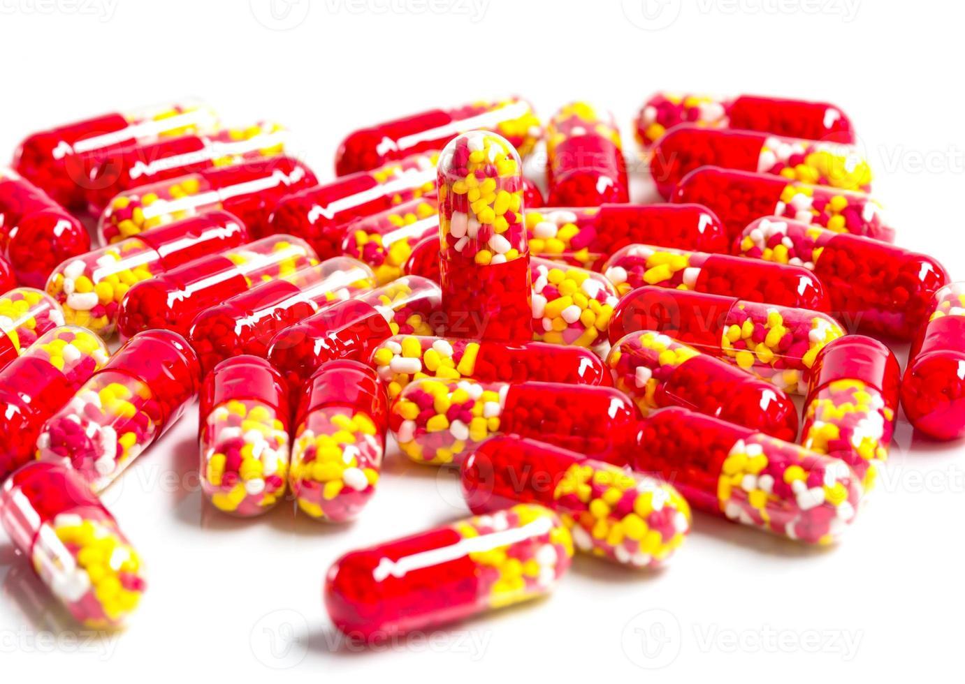cápsula de medicamento. foto