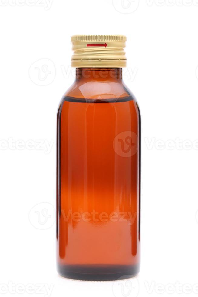 frasco de remédio marrom foto