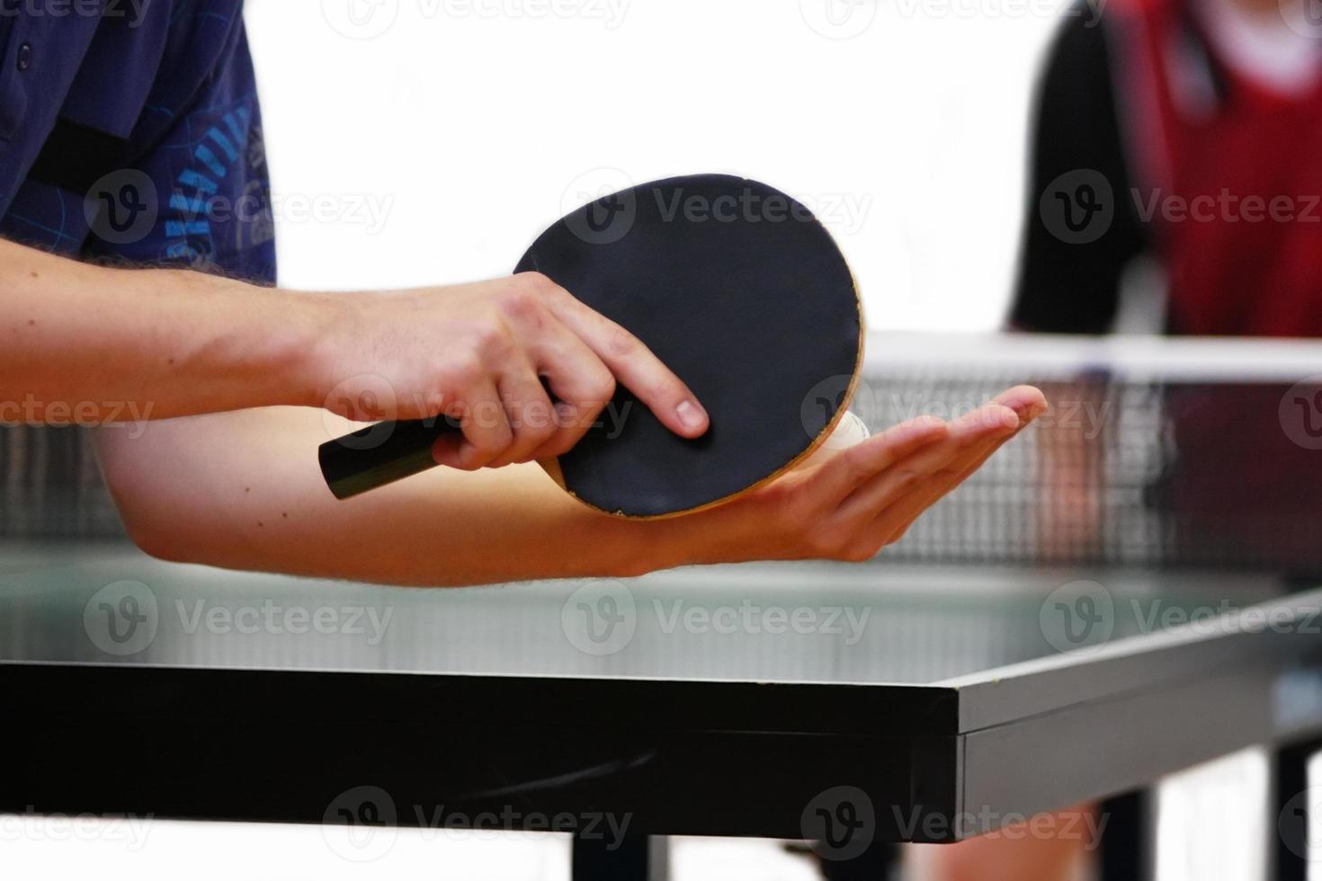 jogador de tênis de mesa foto