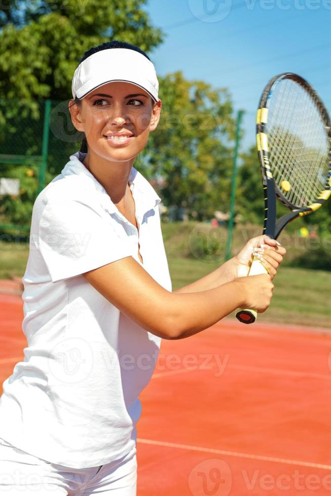 mulher de tênis foto