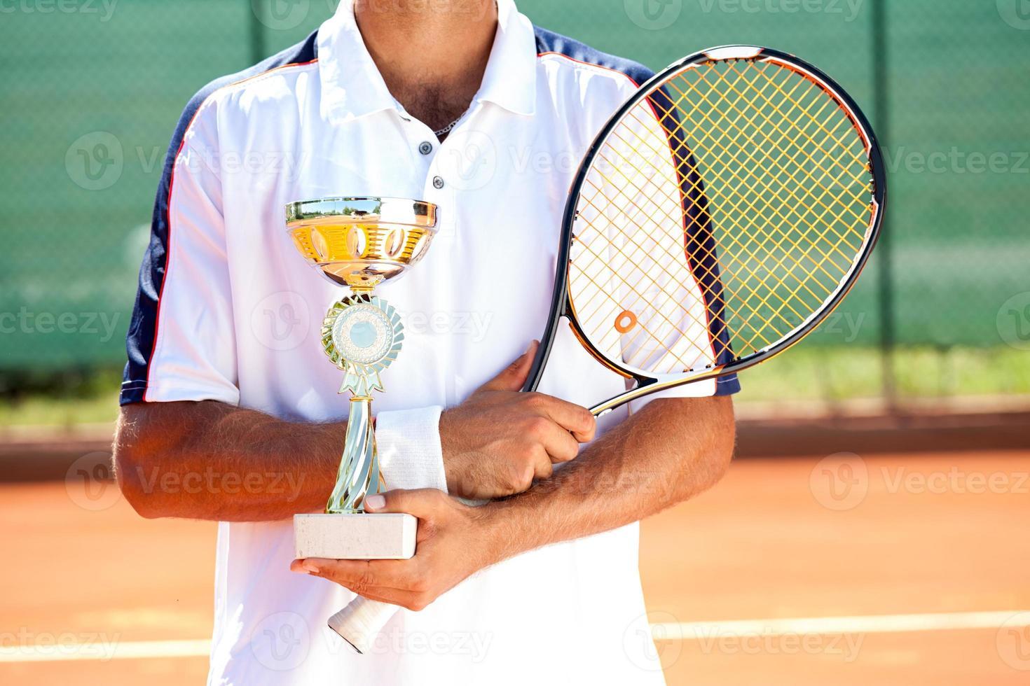 vencedor de tênis foto